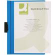 Klemmmappe A4 mit Metallclip bis 30 Blatt transparent/blau PVC BestStandard KF00462 Produktbild