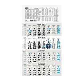 Viermonatskalender 2021 33x63,5cm schwarz/blau Zettler 959-0015 Produktbild