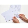 Adress-Etiketten PREMIUM Inkjet+ Laser+Kopier 38,1x21,2mm auf A4 Bögen weiß permanent Herma 4254 (PACK=6500 STÜCK) Produktbild Additional View 4 S