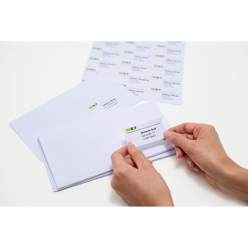 Adress-Etiketten PREMIUM Inkjet+ Laser+Kopier 38,1x21,2mm auf A4 Bögen weiß permanent Herma 4254 (PACK=6500 STÜCK) Produktbild Additional View 4 L