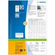 Adress-Etiketten PREMIUM Inkjet+ Laser+Kopier 38,1x21,2mm auf A4 Bögen weiß permanent Herma 4254 (PACK=6500 STÜCK) Produktbild Additional View 3 S