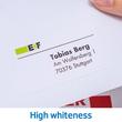 Adress-Etiketten PREMIUM Inkjet+ Laser+Kopier 38,1x21,2mm auf A4 Bögen weiß permanent Herma 4254 (PACK=6500 STÜCK) Produktbild Additional View 7 S