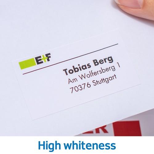 Adress-Etiketten PREMIUM Inkjet+ Laser+Kopier 38,1x21,2mm auf A4 Bögen weiß permanent Herma 4254 (PACK=6500 STÜCK) Produktbild Additional View 7 L