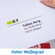 Adress-Etiketten PREMIUM Inkjet+ Laser+Kopier 38,1x21,2mm auf A4 Bögen weiß permanent Herma 4254 (PACK=6500 STÜCK) Produktbild Additional View 6 S