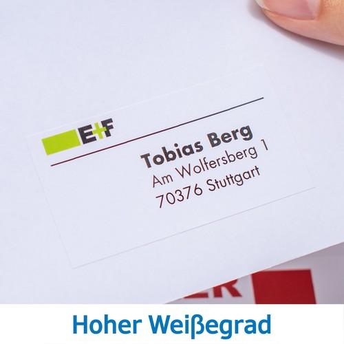 Adress-Etiketten PREMIUM Inkjet+ Laser+Kopier 38,1x21,2mm auf A4 Bögen weiß permanent Herma 4254 (PACK=6500 STÜCK) Produktbild Additional View 6 L
