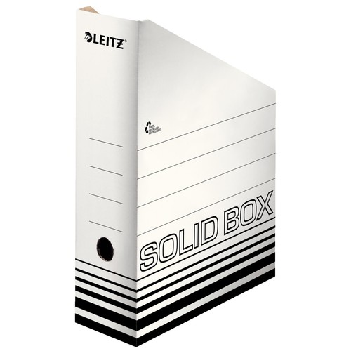 Archiv-Stehsammler Solid 100mm 100x320x260m weiß Karton Leitz 4607-00-01 Produktbild Front View L