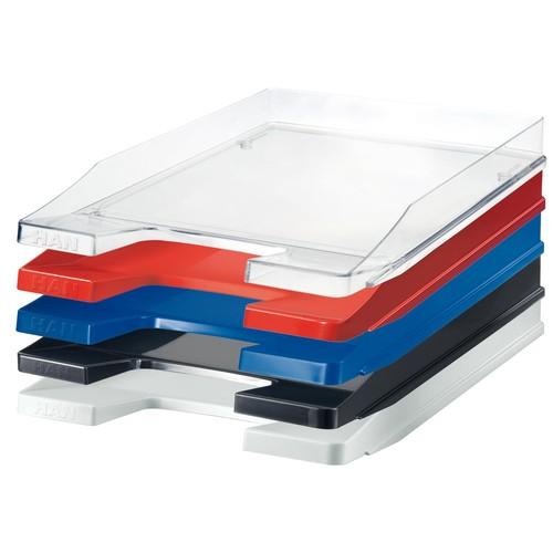 Briefkorb JUNIOR für A4 255x38x348mm transparent-glasklar Kunststoff HAN 1025-23 Produktbild Additional View 2 L