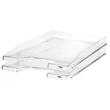 Briefkorb JUNIOR für A4 255x38x348mm transparent-glasklar Kunststoff HAN 1025-23 Produktbild Additional View 1 S