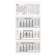 Dreimonatskalender 2021 32x70cm schwarz/rot Zettler 953-0011 Produktbild Additional View 1 S