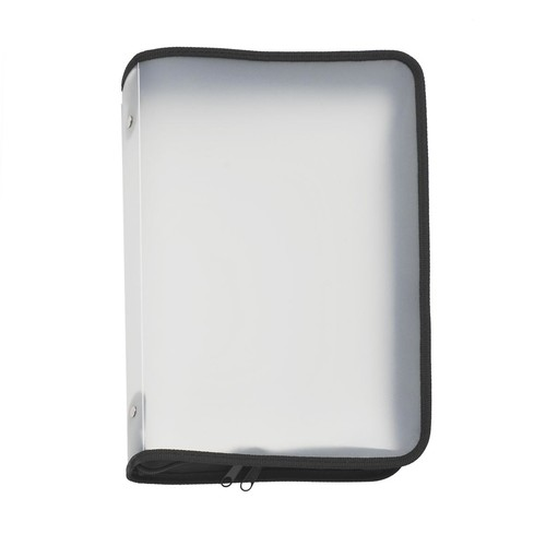 Reißverschlusstasche A4 schwarz/ transluzent PP Foldersys 40452-30 Produktbild