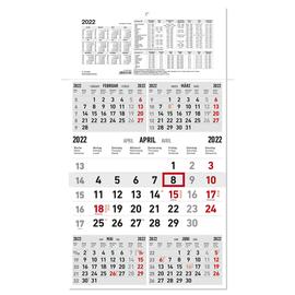 Fünfmonatskalender 2022 33x65cm schwarz/rot Karton Zettler 970-0000 Produktbild
