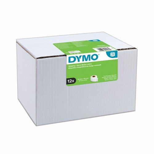 LabelWriter-Versand-/Namensschild- Etiketten 54x101mm Großpackung Dymo 220Etiketten pro Rolle weiß perpament (PACK=12 ROLLEN Á 220 ETIKETTEN) Produktbild Front View L