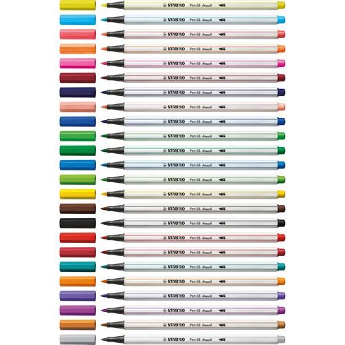 Fasermaler Pen 68 brush Pinselspitze laubgrün Stabilo 568/43 Produktbild Additional View 8 L