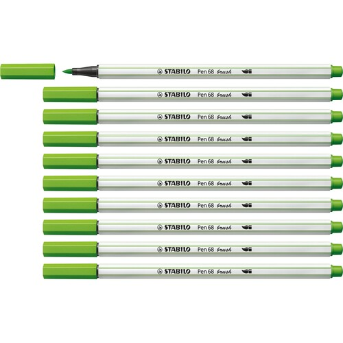 Fasermaler Pen 68 brush Pinselspitze laubgrün Stabilo 568/43 Produktbild Additional View 2 L
