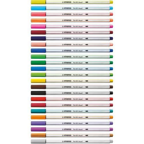 Fasermaler Pen 68 brush Pinselspitze orange Stabilo 568/54 Produktbild Additional View 7 L