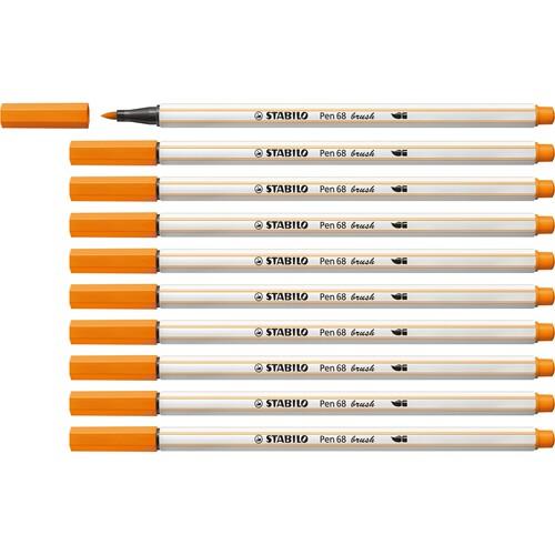 Fasermaler Pen 68 brush Pinselspitze orange Stabilo 568/54 Produktbild Additional View 2 L
