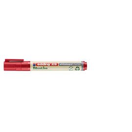 Whiteboardmarker EcoLine 29 1-5mm Keilspitze rot trocken abwischbar Edding 4-29002 Produktbild