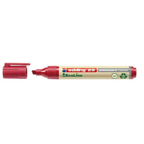 Whiteboardmarker EcoLine 29 1-5mm Keilspitze rot trocken abwischbar Edding 4-29002 Produktbild Additional View 1 L