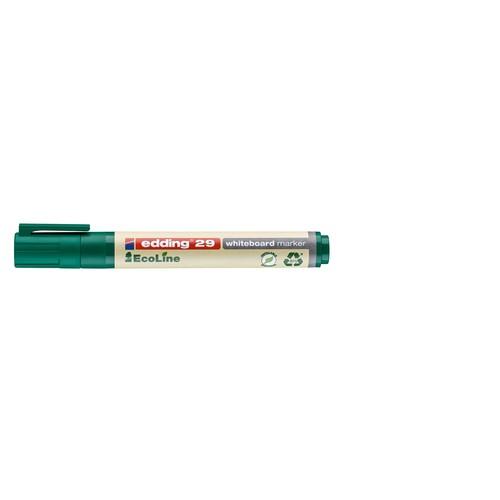 Whiteboardmarker EcoLine 29 1-5mm Keilspitze grün trocken abwischbar Edding 4-29004 Produktbild