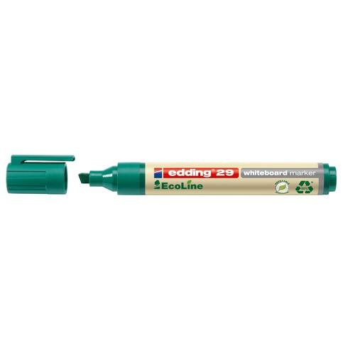 Whiteboardmarker EcoLine 29 1-5mm Keilspitze grün trocken abwischbar Edding 4-29004 Produktbild Additional View 1 L