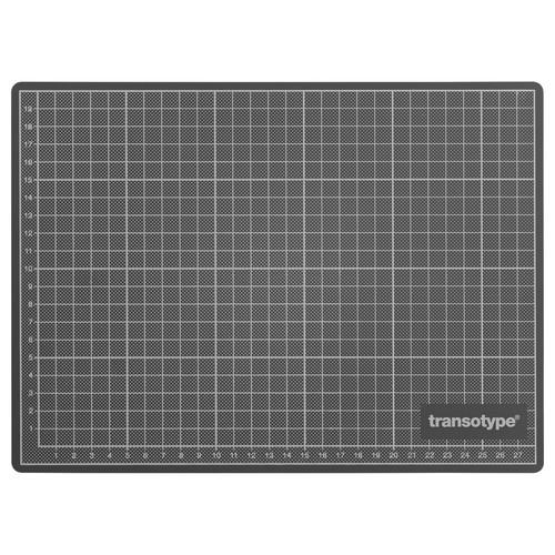 Schneidematte 30x22cm grün/schwarz mit weißer Rastereinteilung Transotype 17501 Produktbild Additional View 1 L