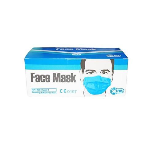 Mund- und Nasenmaske / OP-Maske 3-lagig zertifiziert EN14683:2014 Typ II Produktbild Additional View 2 L