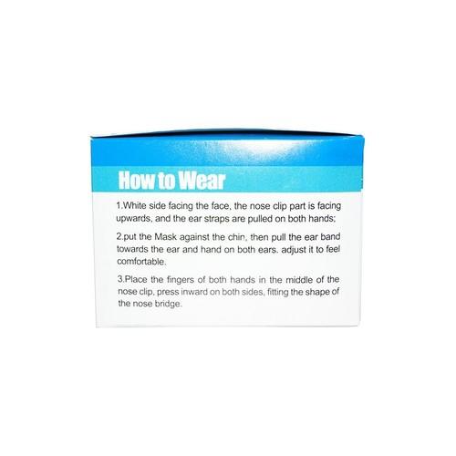 Mund- und Nasenmaske / OP-Maske 3-lagig zertifiziert EN14683:2014 Typ II Produktbild Additional View 3 L