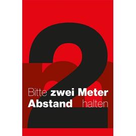 Hinweismatte -Bitte 2,0m Abstand halten- 120x180cm schwarz/rot 62201 Produktbild