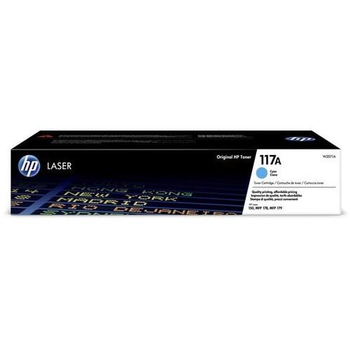 Toner 117A für HP Color Laserjet 150/ MFP 178/179 700 Seiten cyan HP W2071A Produktbild Front View L