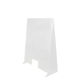 Hygieneschutzwand 60x90cm Typ 1 Kunststoff transparent Produktbild