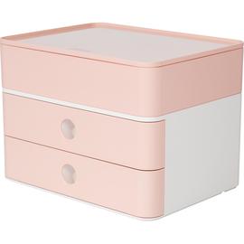 Schubladenbox Smart-Box Plus ALLISON 2 Schübe geschlossen und Utensilienbox 260x195x190mm rose Han 1100-86 Produktbild