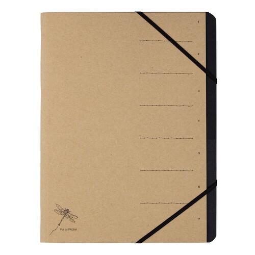 Ordnungsmappe Pur mit 7 Fächern und Gummizug natur Pagna 40060-11 Produktbild Front View L