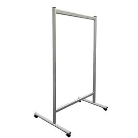 Hygieneschutzwand 120x150cm Fußmaß (Tiefe) 62cm je Seite Acryl glasklar Franken TAP120150M Produktbild
