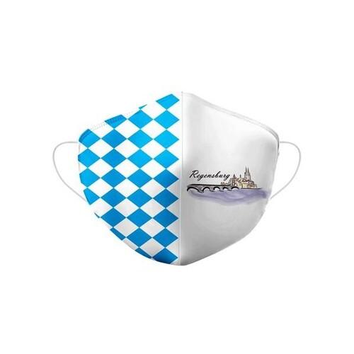 Stoffmaske Regensburg Motiv Größe M Produktbild Front View L