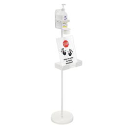 Desinfektionsmittelhalterständer für Flaschen 500/1000ml inkl. Ablage Wedo Produktbild