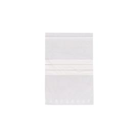 LDPE Druckverschlussbeutel transparent 160 x 220mm / 50µ / Stempelfeld (PACK=100 STÜCK) Produktbild