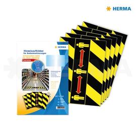 Bodenmarkierung Piktogramm Abstand halten 7x29,7cm schwarz/gelb/rot Herma 12919 (PACK=15 ETIKETTEN) Produktbild