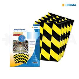 Bodenmarkierung Neutral 7x29,7cm schwarz/gelb/rot Herma 12920 (PACK=15 ETIKETTEN) Produktbild