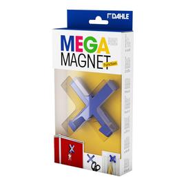 Magnet MEGA Cross XL 9x9cm mit 2 Haken 1900g Haftkraft blau Dahle 95550-14820 Produktbild