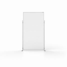 Hygiene und Sicherheits-Raumteiler Evolution 100x200cm Fußmaß (Tiefe) 465mm je Seite Magnetoplan 11038210 Produktbild