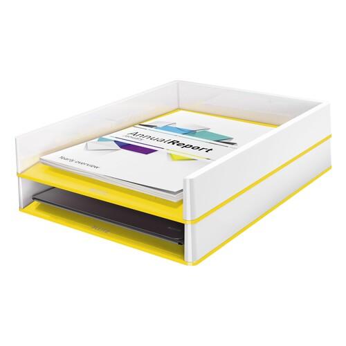 Briefkorb WOW Duo Colour für A4 267x49x336mm weiß/gelb metallic Kunststoff Leitz 5361-10-16 Produktbild Additional View 1 L