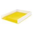 Briefkorb WOW Duo Colour für A4 267x49x336mm weiß/gelb metallic Kunststoff Leitz 5361-10-16 Produktbild