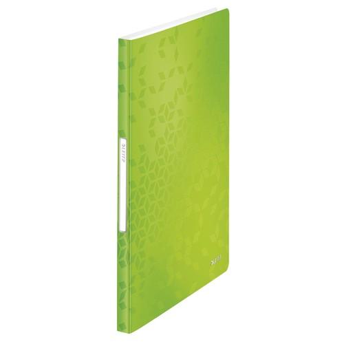 Sichtbuch WOW mit 40 Hüllen A4 grün metallic PP Leitz 4632-00-54 Produktbild Front View L