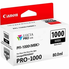 Tintenpatrone PFI-1000MBK für Canon IPF 1000 80ml schwarz matt Canon 0545C001 Produktbild