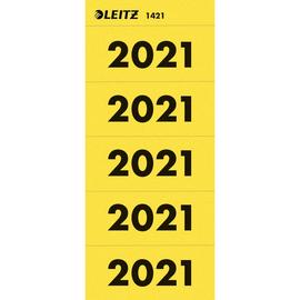 Jahreszahlenaufkleber 2021 gelb selbstklebend Leitz 1421-00-15 (BTL=100 STÜCK) Produktbild