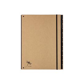 Pultordner 12 Fächer A4 Pur natur Graukarton Pagna 44012-11 Produktbild