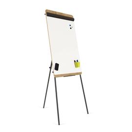 Flipchart-Tafel Standard 99x69cm Dreibeinstativ Holzoptik Franken FC610H magnetisch beschichtet Produktbild