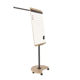 Flipchart-Tafel Pro Mobil 99x69cm Rundfuß mit Rollen Holzoptik Franken magnetisch beschichtet FC616H Produktbild