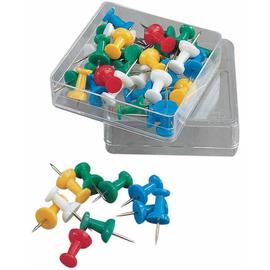 Pinwandnadeln farbig sortiert Kunststoff Griffknopf 1081 (DS=40 STÜCK) Produktbild