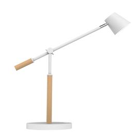 Tischleuchte LED VICKY mit Standfuß dimmbar weiß/buche Unilux 400110084 Ladeoption über USB Produktbild